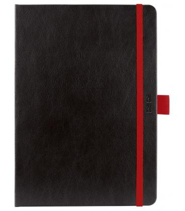 Weekly Diary A5 poznámkový slovak Nero black, red 2021