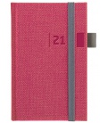 Weekly Pocket Diary slovak Tweed red, grey 2021