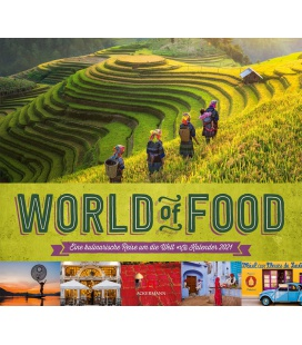 Wall calendar World of Food - Kulinarische Weltreise Kalender 2021