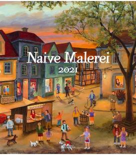 Wall calendar Naive Malerei Kalender 2021