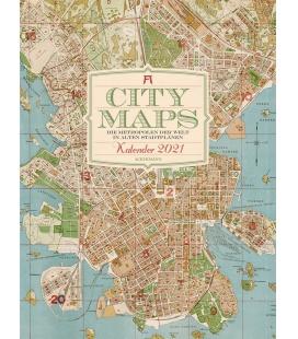 Wall calendar City Maps - Metropolen in alten Stadtplänen Kalender 2021