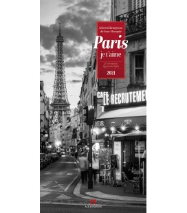 Wall calendar Paris, je t'aime - Literatur-Kalender 2021