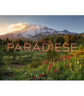 Wall calendar Geheime Paradiese Kalender 2021