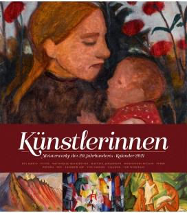 Wall calendar Künstlerinnen, Meisterwerke des 20. Jahrhunderts, Kalender 2021