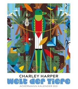 Wall calendar Welt der Tiere - Charley Harper Kalender 2021