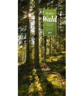 Wall calendar Mythos Wald - Literatur-Kalender 2021