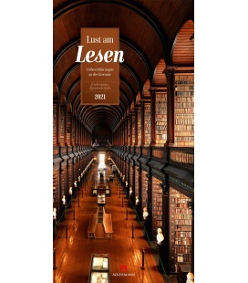 Wall calendar Lust am Lesen - Literatur-Kalender 2021