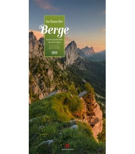 Wall calendar Im Bann der Berge - Literatur-Kalender 2021