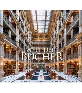 Wall calendar Welt der Bücher - Bibliotheken Kalender 2021