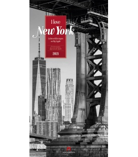 Wall calendar I love New York - Literatur-Kalender 2021