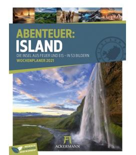 Wall calendar Island - Wochenplaner Kalender 2021