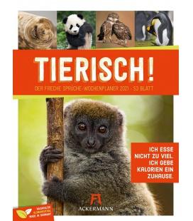 Wall calendar Tierisch Sprüchekalender - Wochenplaner Kalender 2021