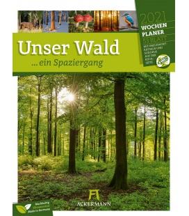 Wall calendar Unser Wald - Wochenplaner Kalender 2021