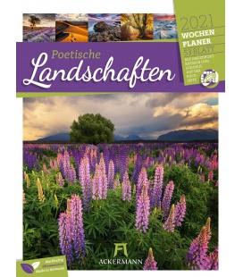 Wall calendar Poetische Landschaften - Wochenplaner Kalender 2021
