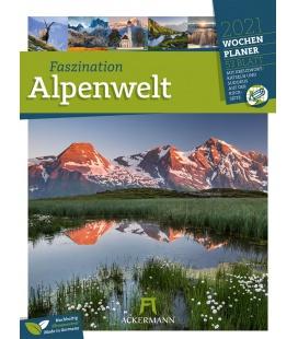 Wall calendar Faszination Alpenwelt - Wochenplaner Kalender 2021