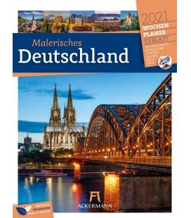 Wall calendar Malerisches Deutschland - Wochenplaner Kalender 2021