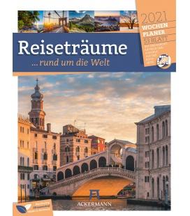 Wall calendar Reiseträume - Wochenplaner Kalender 2021