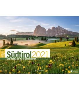 Wall calendar Südtirol ReiseLust Kalender 2021