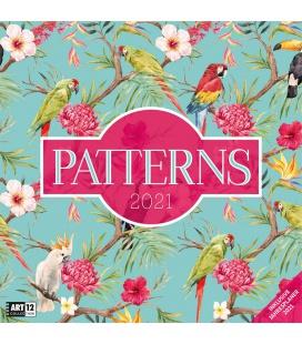 Wall calendar Patterns Kalender 2021