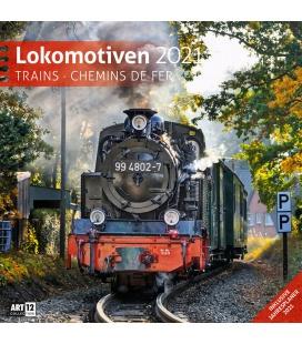 Wall calendar Lokomotiven Kalender 2021