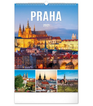 Wall calendar Prague 2021