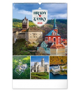 Wall calendar Castles and Chateaux 2021