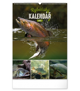 Wall calendar Fishing CZ 2021