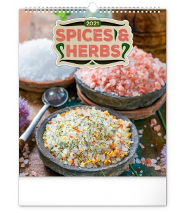 Wall calendar Spices and Herbs 2021