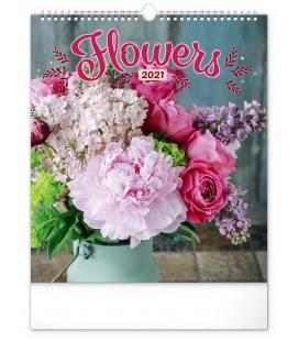 Wall calendar Flowers 2021