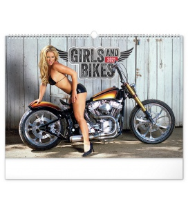 Wall calendar Girls and bikes – Jim Gianatsis 2021