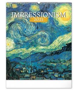 Wall calendar Impressionism 2021