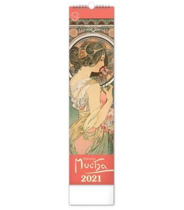 Wall calendar Alphonse Mucha-vázanka 2021