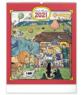 Wall calendar Josef Lada – Animals 2021