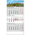 Wall calendar 3months Landscape grey with Czech names 2021