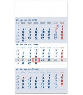 Wall calendar 3months Standard blue with Slovak names 2021