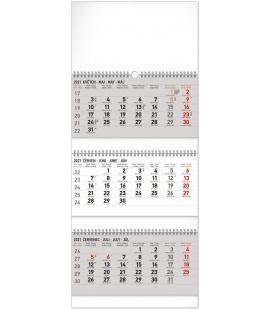 Wall calendar 3months Standard foldable with Czech names 2021