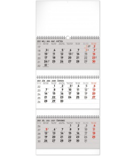 Wall calendar 3months Standard foldable with Slovak names 2021