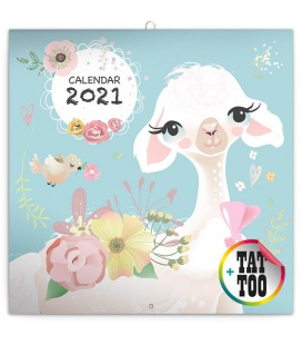 Wall calendar Happy Llamas 2021