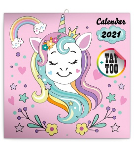 Wall calendar Happy Unicorns 2021