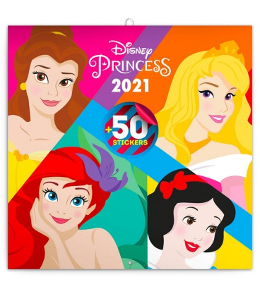 Wall calendar Princess 2021