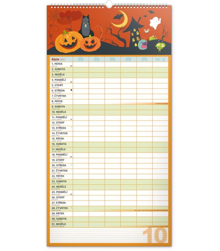 Wall calendar Family planner XXL 2021