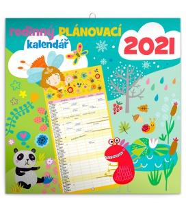 Wall calendar Family planner 2021