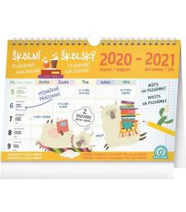 Table calendar Weekly school planner with hook 2021