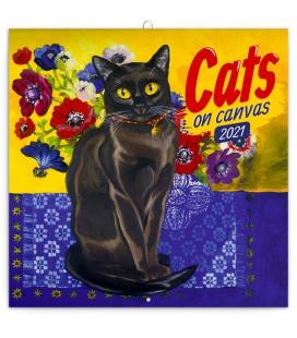 Wall calendar Cats on Canvas 2021