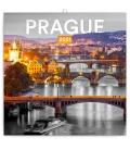 Wall calendar Prague Black and White 2021