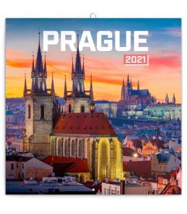 Wall calendar Prague Nostalgic 2021