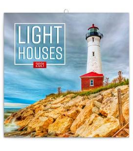 Wall calendar Lighthouses 2021