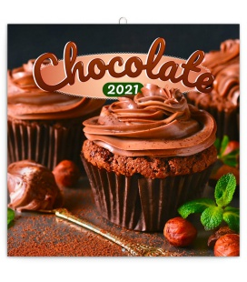 Wall calendar Chocolate – scented 2021