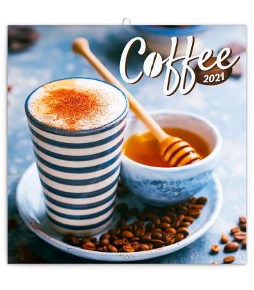 Wall calendar Coffee – scented 2021