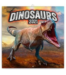 Wall calendar Dinosaurs 2021